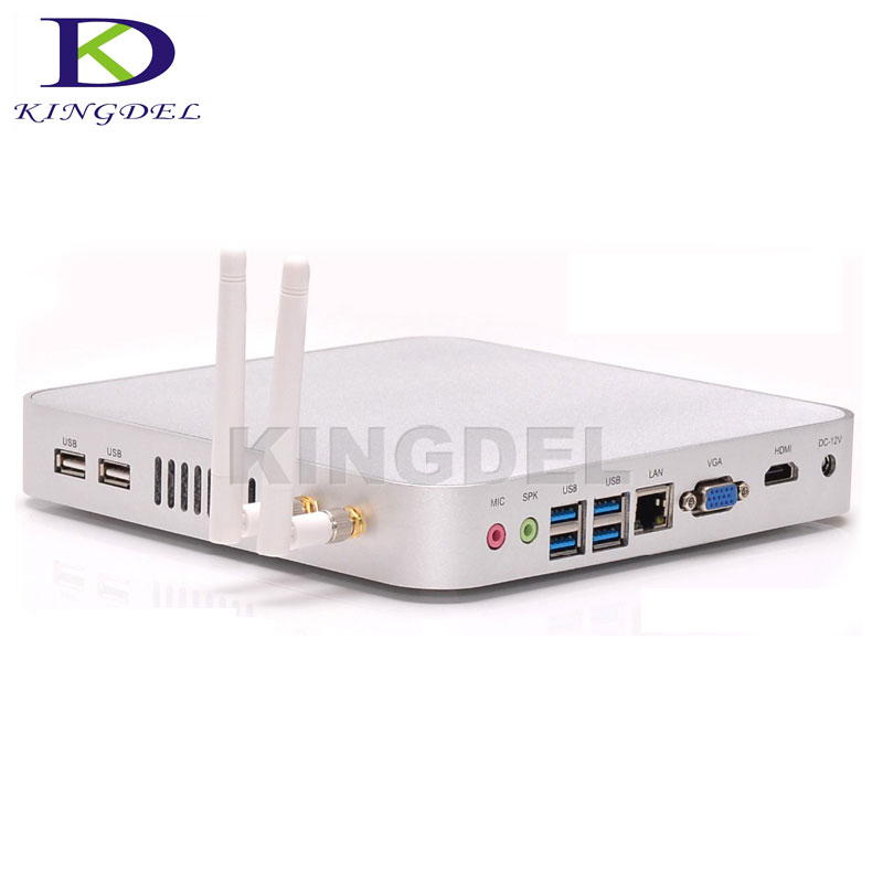 Full Metal Case Barebone Thin Client PC Intel Celeron 1007U/1037U Dual Core Mini Desktop Wifi HDMI USB3.0 VGA Windows 7/8/10 OS