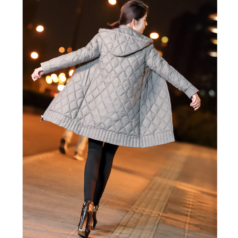 Winter Jacket Female   Parka   Coat Long hoodie Down Cotton Jacket Plus Size 3XL Long Hooded thick   Parkas   autumn Coat Jacket Women