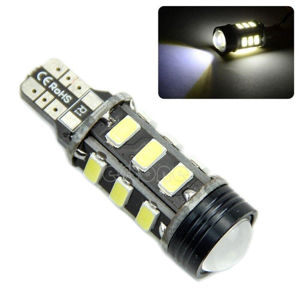 Подробнее о No Error Canbus Power W16W T15 LED Backup Reverse Light Bulb Xenon White 2pcs t15 w16w 15smd high power chips led 2835 error free canbus bulbs backup reverse turn signal light