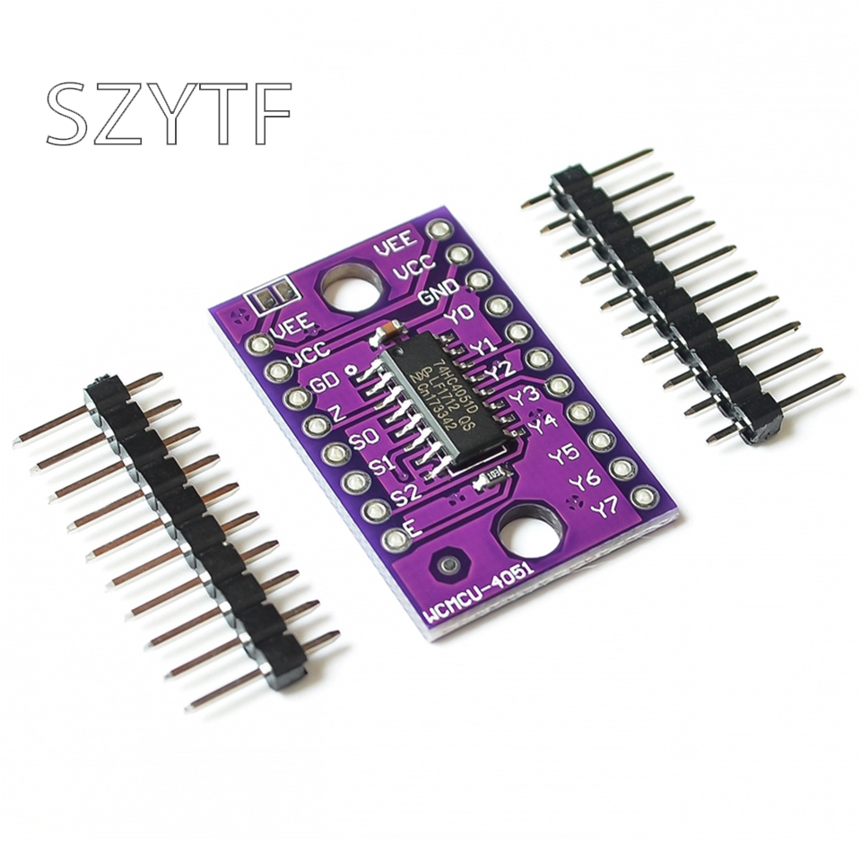 74HC4051 8 Channel Analog Multiplexer Selector Module Multiplexers Distributor Resolver CJMCU-4051 For Arduino