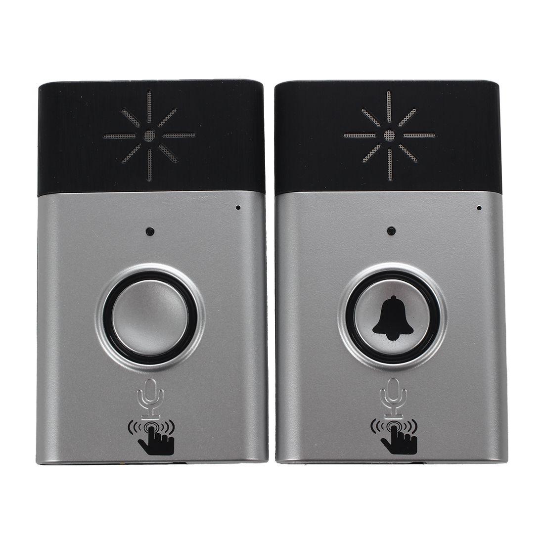 Wireless Doorbell With Speaker Voice Intercom 300M Distance wireless doorbell with speaker voice intercom 300m distance silver glod