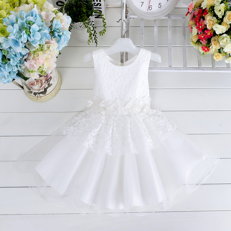 2015   Christmas  Wholesale girl's dress flower girls dress lace party dress princess dress