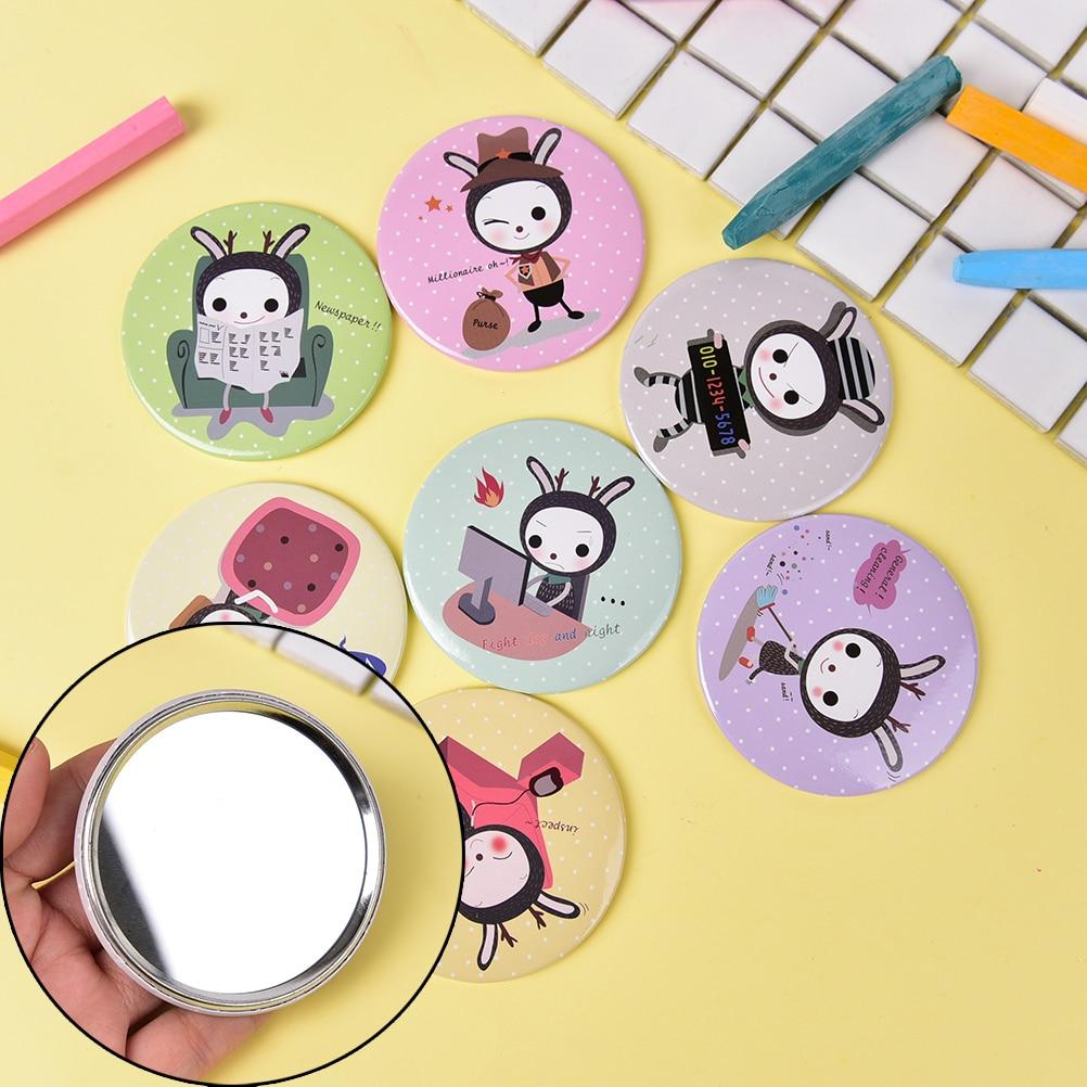 Schönheit & Gesundheit Unparteiisch 1 Stück Mini Spiegel Bewegliche Tasche Dia 7 Cm Kosmetikspiegel Kompakten Metall Spiegel Farbe Zufällig