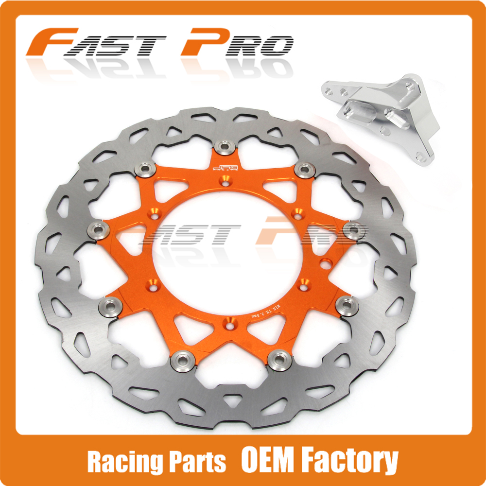 320 Floating Brake Disc + Bracket Fit For KTM 4 Pot Caliper HF6 SX XC XCW SXF XCF XCFW EXC 125-530 Supermoto Motard 4 directions foldable pivot clutch lever for ktm exc excf excr xc xcf xcw xcfw sx sxf days dirt bike motorcycle free shipping