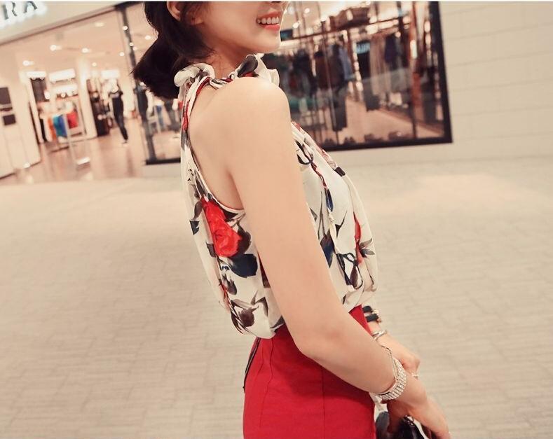 HTB1HPNuIVXXXXcoaXXXq6xXFXXXt - New Fashion Women Sleeveless Chiffon Floral Print Blouses Tops Shirt