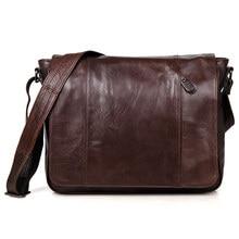 New arrival genuine Leather Men Bags Men Messenger Bag vintage top Layer Leather Shoulder Bag Men's Crossbody Bag