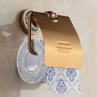 Antique porcelaine salle de bains porte-papier en aluminium mur support de papier toilette porte-rouleau de salle de bains accessoires