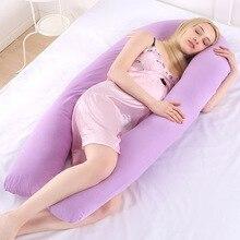 Подушка для сна для беременных с хлопковой наволочкой для женского тела u-образные подушки для беременных боковые спальные принадлежности