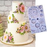 Buttercream цветы формы помадка торт украшения инструменты, силиконовые формы для ремесел набор для выпечки с шоколадом инструменты для тортов ...