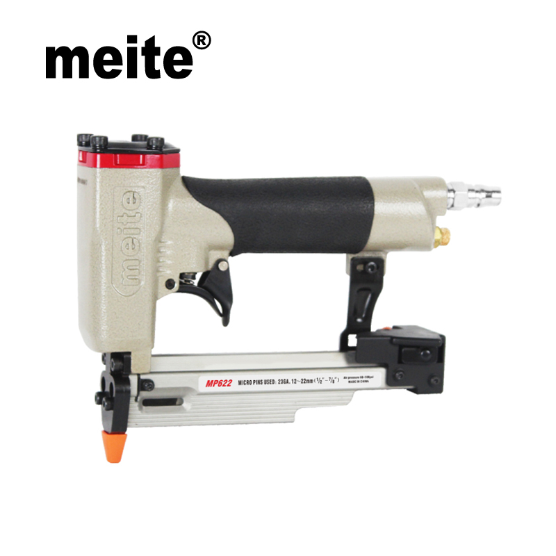 MP622 meite brand nail gun air Micro pinner for 12-22mm headless pins 23 Gauge 7/8 Pneumatic pin gun Feb.26. Update tool pneumatic nail puller for recycle pallet nail remover air nail punch not include the custom tax