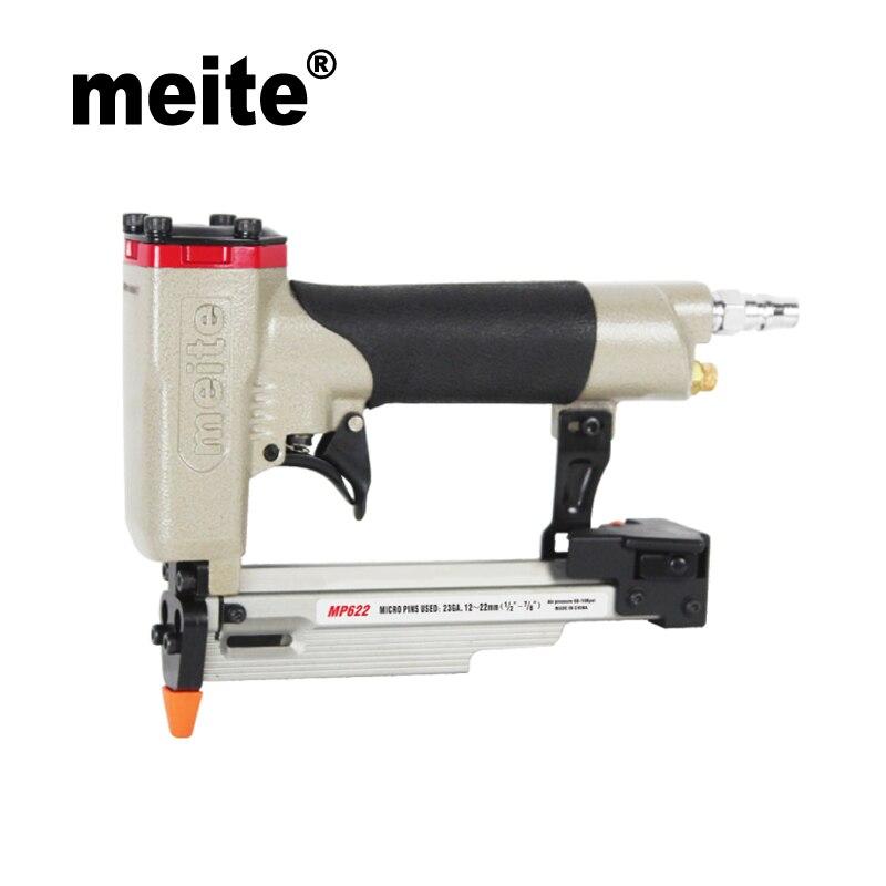 ФОТО MP622 meite nailer gun Micro pinner for 12-22mm headless pins 23 Gauge 7/8