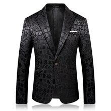 Slim design black men suit jacket long-sleeved Asian size S
