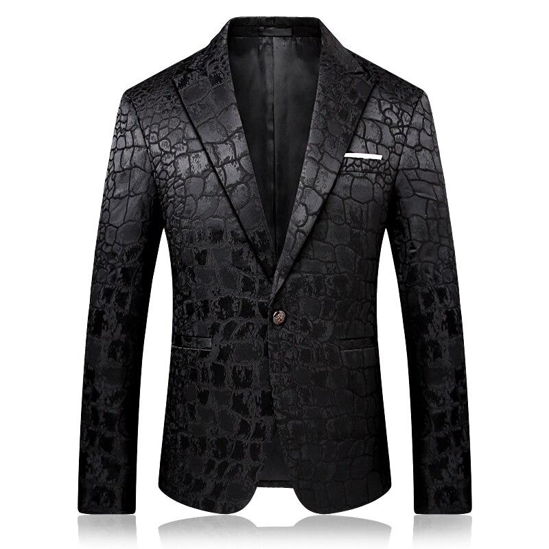 Slim design noir hommes costume veste à manches longues asiatique taille S M L XL XXL XXXL XXXXL hommes costumes blazers haute qualité