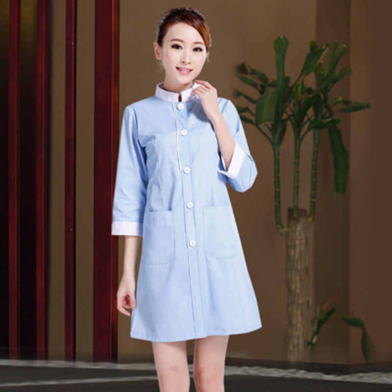 New free shipping medical Uniforms Clothes Beautician Overalls Beauty Salon Work Clothes Nurse Uniform Pharmacy Work Clothes
