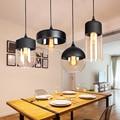 Nordic moderno loft Appeso Vetro lampade a sospensione LED Retro Edison Lampada a Sospensione Apparecchi di Cucina Sala da pranzo Bar Nero Bianco ambra