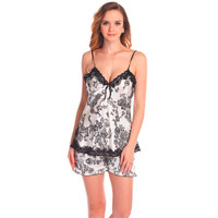 Ladies Sexy Silk Lace Nightwear Satin V Neck Cami And Shorts Set Comfy Pajamas Pretty Nighties