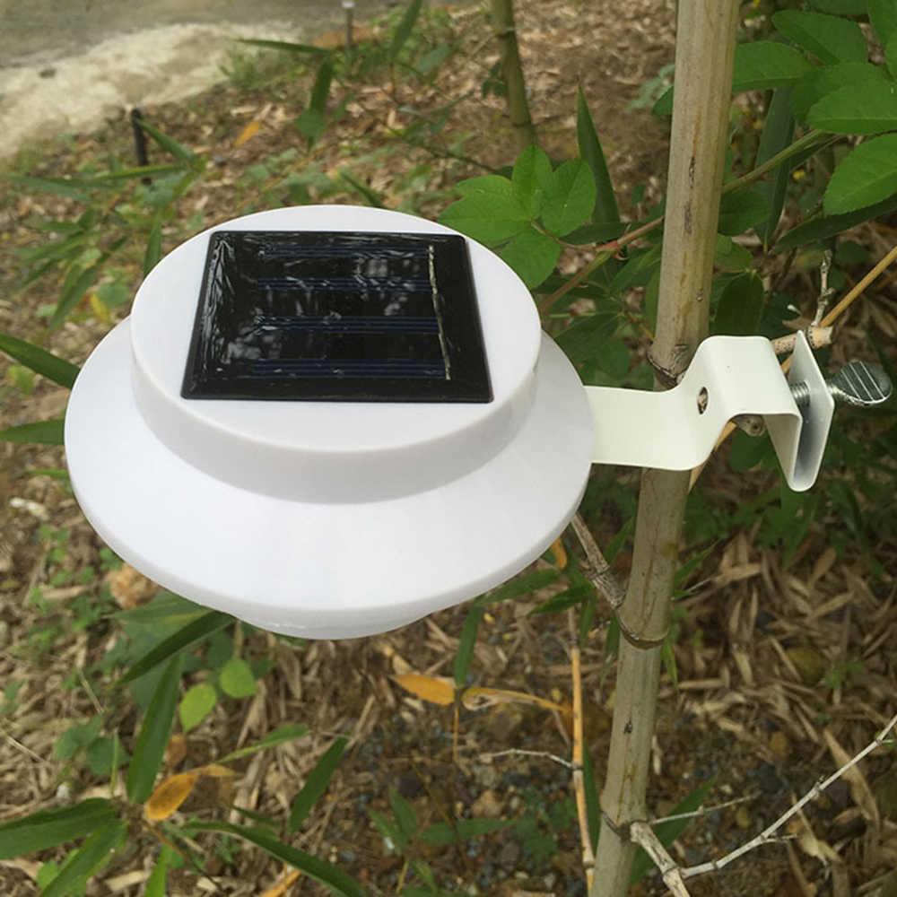 3 светодиодный солнечный свет водонепроницаемая лампа на солнечной энергии уличный Садовый Солнечный светодиодный свет Солнечный свет автоматический датчик освещенный желоб Крыша Настенный светильник