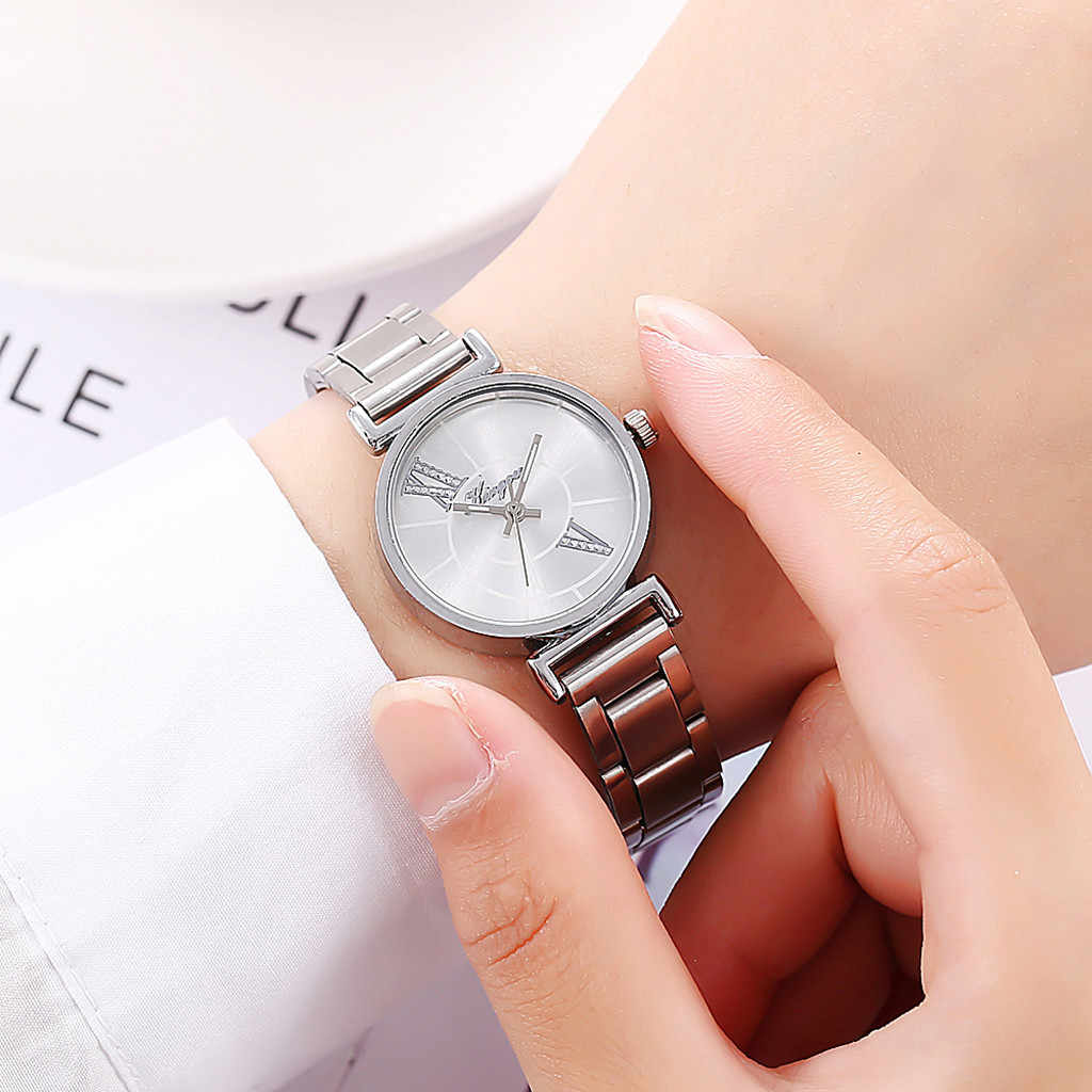 2019 Watch Women Alloy Steel Belt Casual Zegarek Damski Quartz Wristwatch Simple Luxury Watches Relogio Feminino Reloj Mujer
