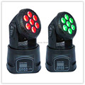 2pcs/lot Free shipping hot high quality led mini wash moving head light 7x12w rgbw quad DMX 14 channels fast shipping