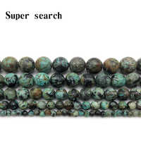 Natural Gem Stone African Turquoises Beads 4 6 8 10 12MM Fit Diy Accessory Bracelet Beads Jewelry Making