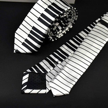 1 pc Unique Design Men's Musical Necktie with Wide Piano Keyboard Classic Slim Music Skinny Tie cravate pour homme