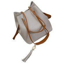 Mode Frauen Leder Quasten Einzelner Schulter-beuteltasche + Clutch Bag Berühmte Marke Design Frauen Messenger Bags Frauen Umhängetasche