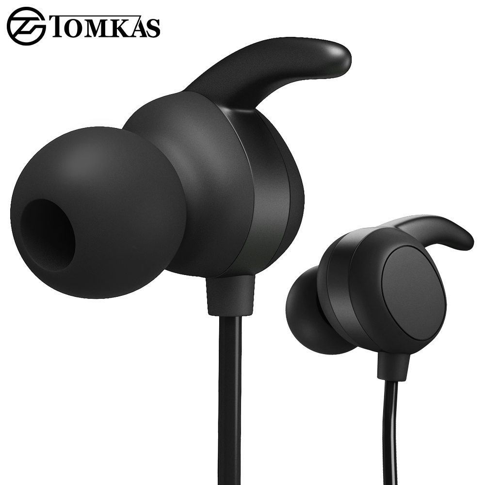 TOMKAS Wireless Bluetooth Earphone Headphone Headset Sport Earphone Wireless Bluetooth Headphone For Phone iPhone With Mic new 2016 original linx lx bl11 bluetooth wireless earphone headphone for mobile phone headset headphone free shipping