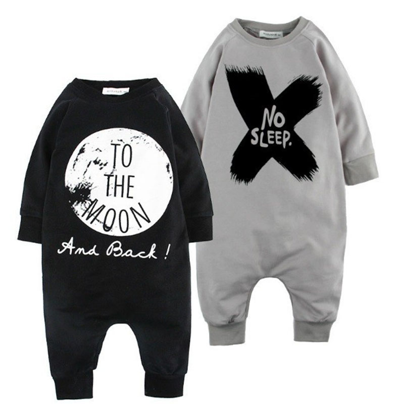 Bear Leader Autumn Cotton Baby Boy Clothes Girl Baby Romper Baby Clothes One Piece Jumpsuit NO SLEEP Cartoon Baby Clothing