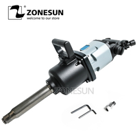 ZONESUN 90 Blade Industrial Pneumatic Wrench Pinless Hammer Structure 3500N.M Heavy Duty 1 Pneumatic Wrench Air Impact Wrench
