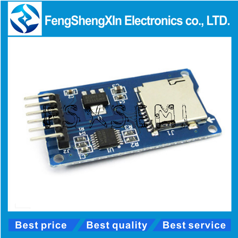 1Pc 3.3V//5V Micro SD// TF Dual Card Reader Module SPI// SDIO Dual Mode Storage