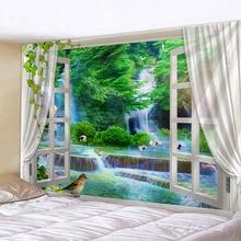 цены на The Beautiful  Scenery Outside The Window Wall Handing Tapestry Sandy Beach Picnic Towel  в интернет-магазинах