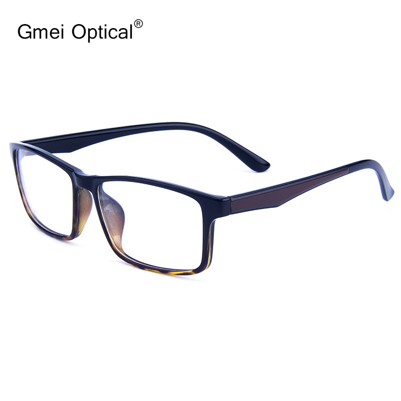 Gmei Optical Rectangular Ultralight TR90 Business Men Glasses Frame Prescription Eyeglasses Frames Women Full Rim Eyewear G6087