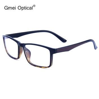 Negocios Casual Rectangular Superlight TR90 marco óptico de borde completo para hombres y mujeres gafas de prescripción de 5 colores