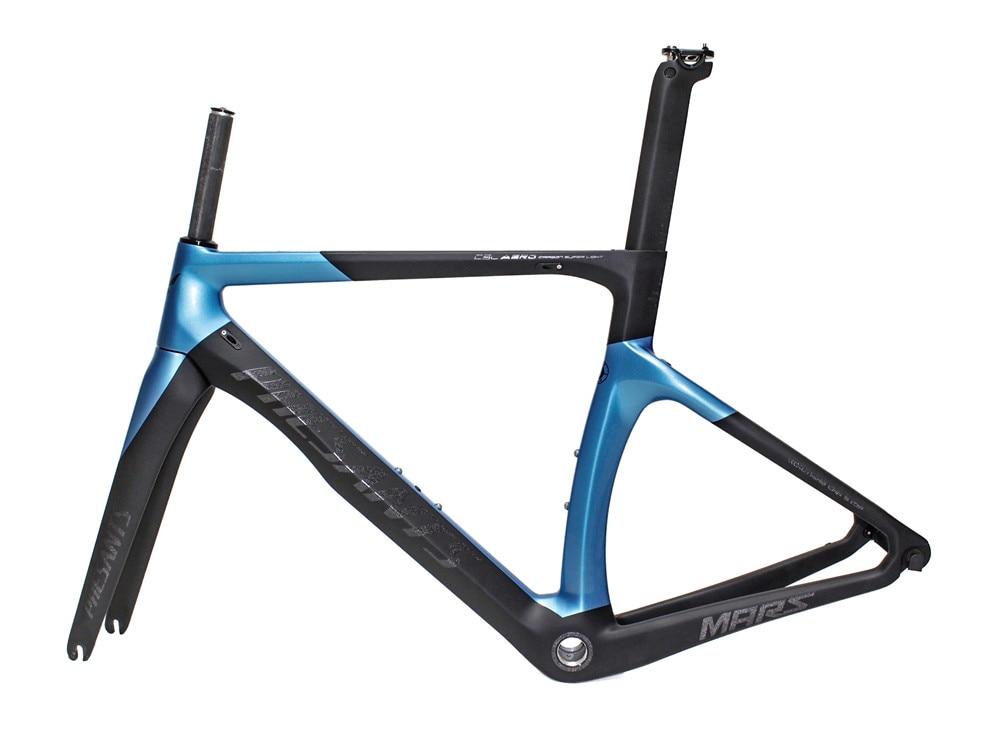 2019 PHESANTS MARS Black Blue T800 Carbon Fiber Road Bicycle Frame Bike Carbon Frame 5 Sizes Choice Two Years Warranty
