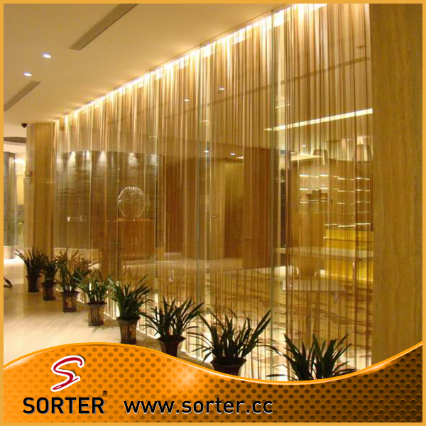 New Design Fashionable Golden Metal Wire Mesh Curtain Wall Treatment In Screens Room Dividers From Home Garden On Aliexpress Alibaba Group
