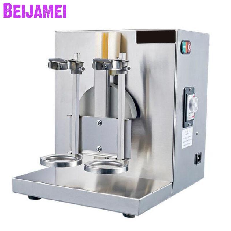Beijamei milk tea shop double head rocking machine stainless steel milk shaker machine electric tea shaking