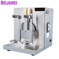 Beijamei leite loja de chá de leite em aço inoxidável dupla cabeça da máquina de balanço máquina tremendo chá shaker máquina elétrica