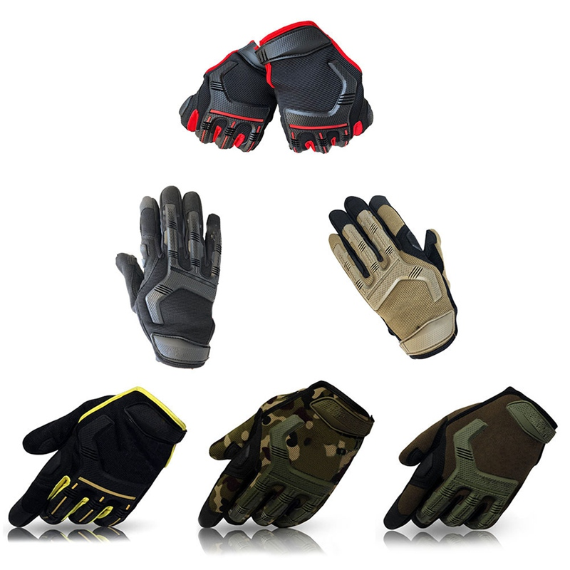 Full Finger Gloves Bike Sport Mechanic Combat Military Cycling Gloves Full Finger Sport Shockproof