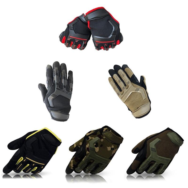 Full Finger Gloves Bike Sport Mechanic Combat Military Cycling Gloves Full Finger Sport Shockproof blackhawk gloves finger blackhawk 110018
