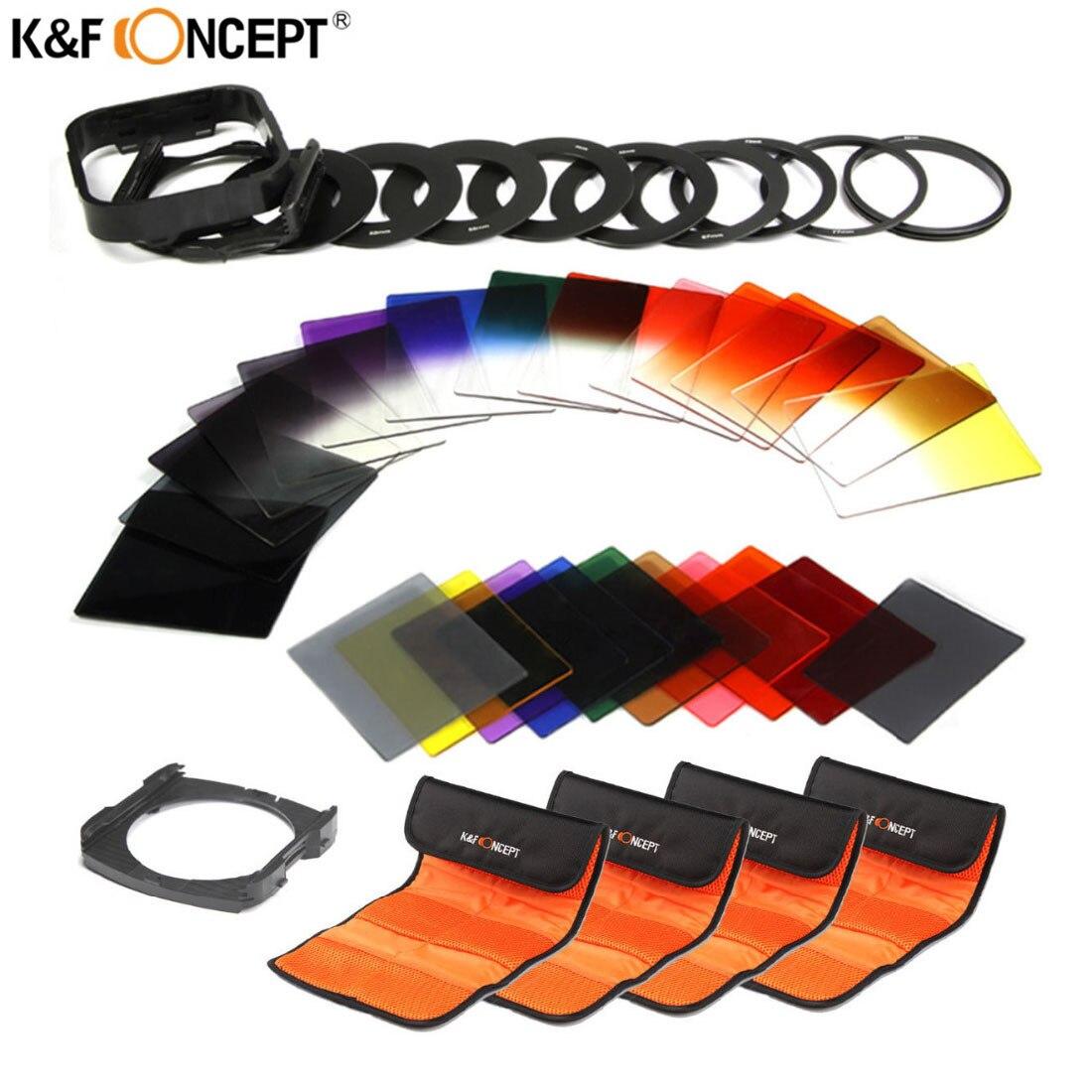 K & F CONCEPT 40 In1 ND2 ND4 Fader Progressive Gris Couleur Lentille Filtre ensemble Pour Canon 600d 700d Nikon D3100 D3300 SONY SLR DSLR Caméra