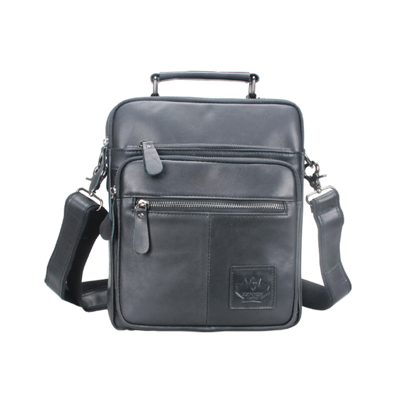 ZZNICK New Fashion Genuine Leather Man Messenger Bags Cowhide Leather Male Cross Body Bag Casual Men Commercial Briefcase Bag 100% genuine leather man messenger bags 2017 new brand cowhide leather male cross body bag casual business men briefcase handbag