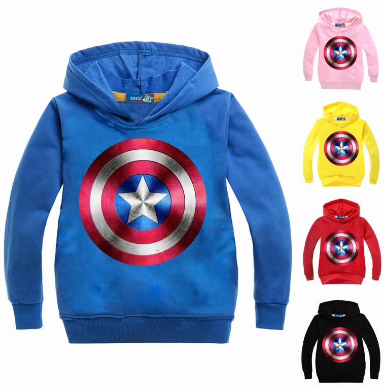 Divat fiúk kapucnis pulóverek és pulóverek amerikai kapitány - Gyermekruházat