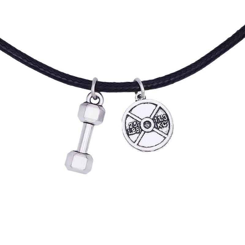 1 Stück Hotsale 25lbs Gewicht Platte Barbells Crossfit Gym Inspire Sport Halsketten Schmuck