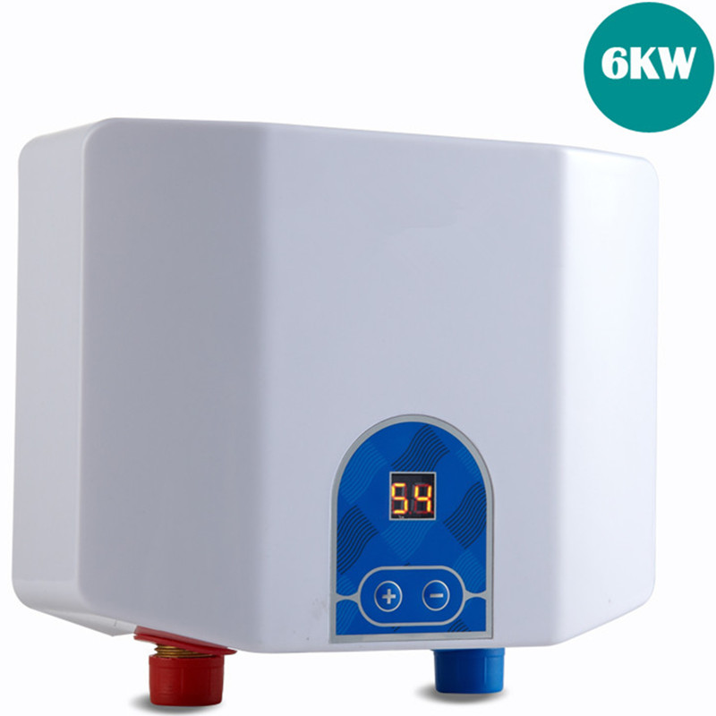 Water heater tap white color electric tankless bathroom for 4 bathroom tankless water heater