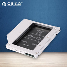 L127SS ORICO Espacio CD-ROM SATA a SATA 2 unidad de Disco Duro 2.5 DISCO DURO Interno Caja Caddy para Ordenadores Portátiles-Plata