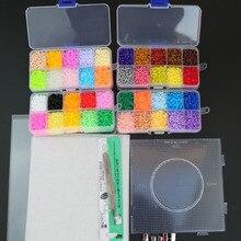 Mini perles de jouets EVA Hama, 2.6mm, PUPUKOU bricolage, gabarit contenant Tangram, Puzzle avec outils, perler Puzzle, jouets pour enfants, brinquegos