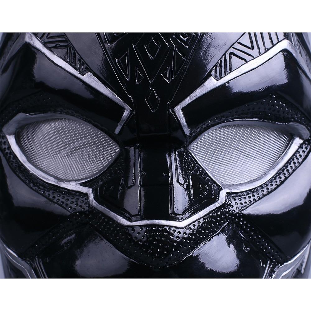 2018 New Black Panther Helmet Cosplay T'Challa Mask Costume Halloween Helmet Handmade PVC prop (8)