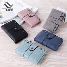 TTLIFE Women Wallet Simple Retro Rivets Short Coin Card Holders Handbag for Girl Storage Bag Small Wallets Ladies Bolsa Feminina