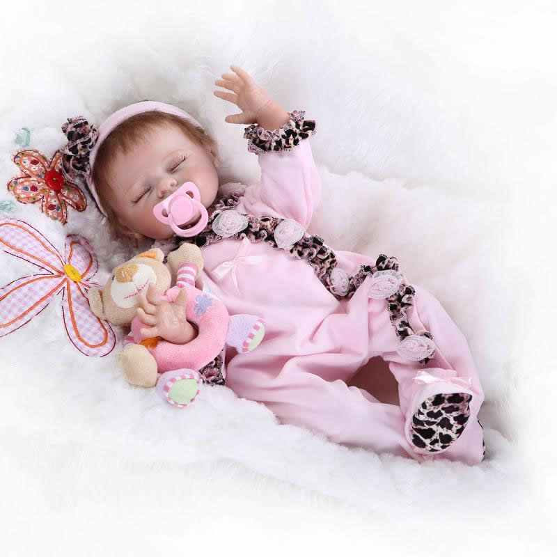 Hot sale 20 inch silicone baby reborns lifelike newborn baby dolls soft silicone fashion girl doll Christmas gift hot sale 2016 npk 22 inch reborn baby doll lovely soft silicone newborn girl dolls as birthday christmas gifts free pacifier