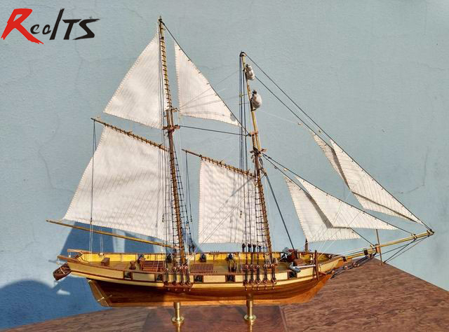 RealTS Scale 1/96 Harvey 1847 Model Ship Kit Wood Sailing Ship Kit Laser Cut Boat Kit Wooden Ship Models Kits Educational Toy